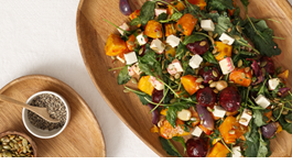 Roast Vegetable, Goat Feta & Kale Salad
