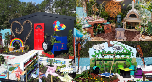 Colourful, creative and fun these Garden to Table school gardens were a stand out.
