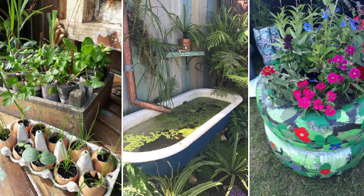 Creative ideas to upcycle old items around your home and garden.