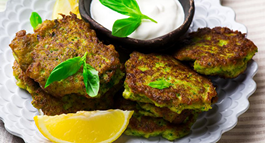 Broccoli Stalk Fritters